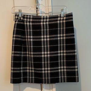 J.Crew black plaid mini skirt size 0